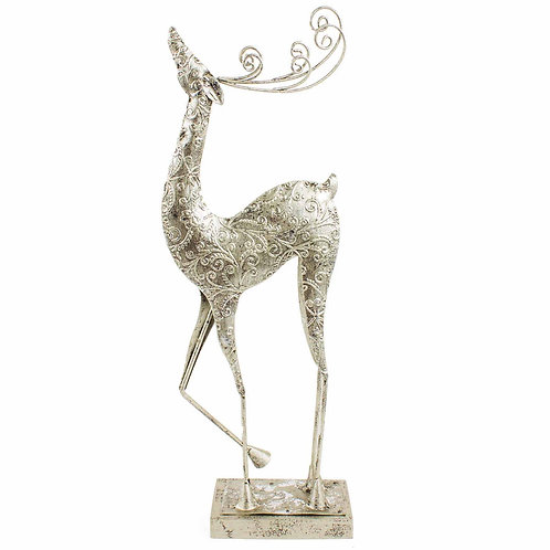 Metal Standing Reindeer Medium