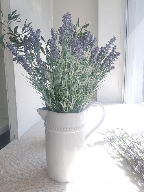 Large white jug