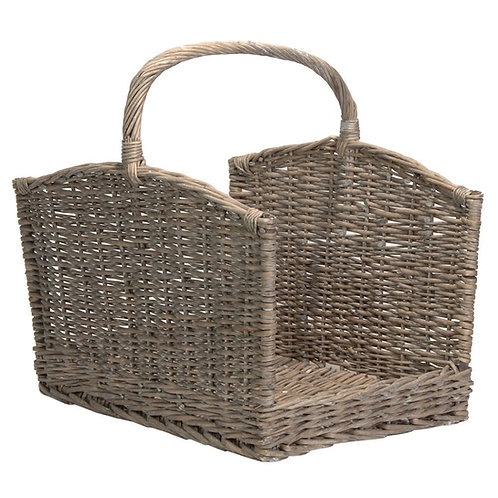Large Grey Willow Log Basket