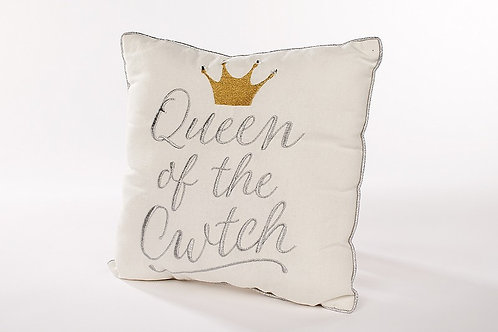 Queen of the cwtch cushion