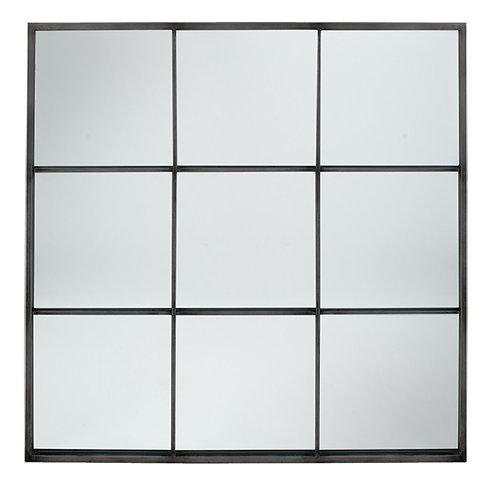 Pacific Dark grey metal 9 section mirror