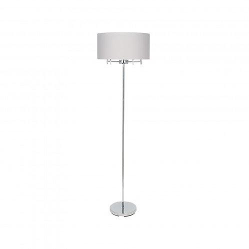 Silver 5 Light Metal Floor Lamp
