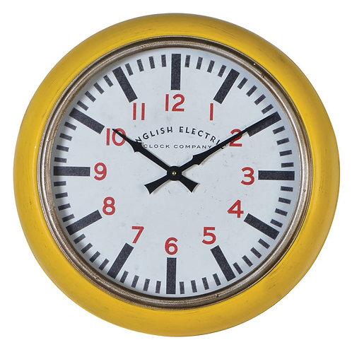 'English Electric' Yellow Wall Clock