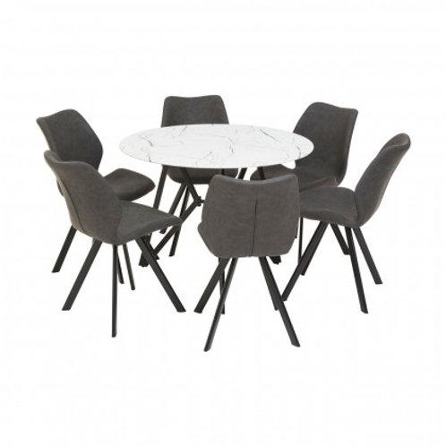 Winston round table & chair set
