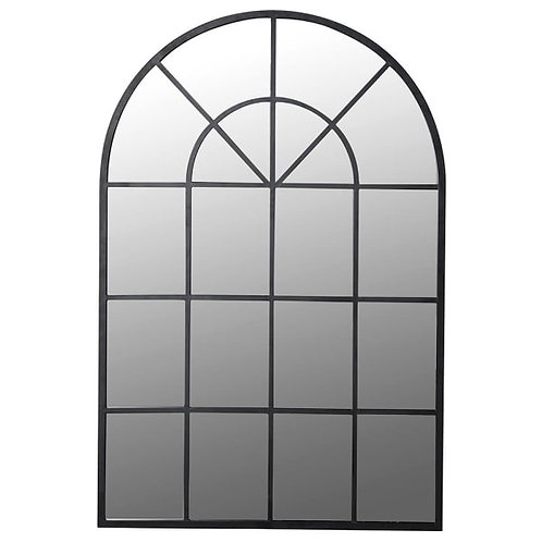 Window metal frame mirror