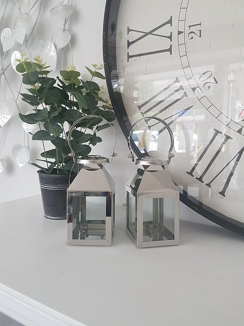 Small Silver Carriage Lantern