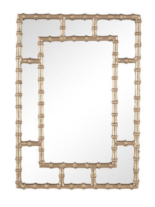 Pacific gold Bamboo Rectangular wall mirror