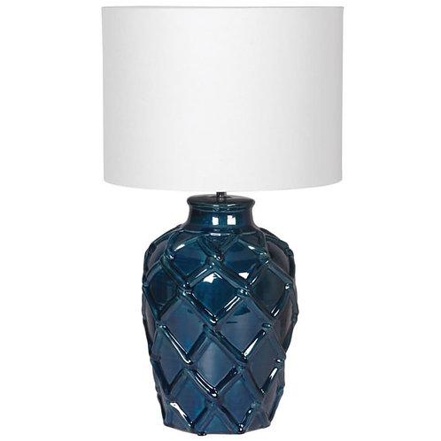 Deep blue rope ceramic lamp