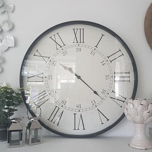 Large Embossed Station Clock
