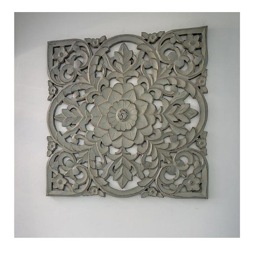 Medium carved grey panel
