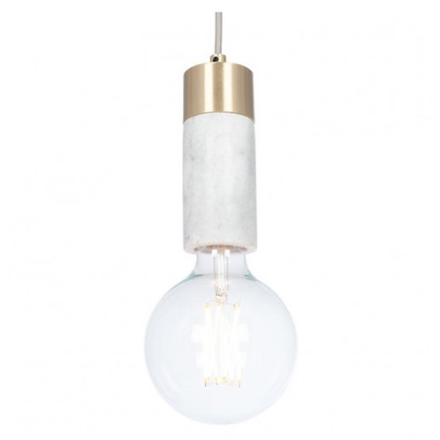 Frowick marble & brushed gold ceiling light by Pacific