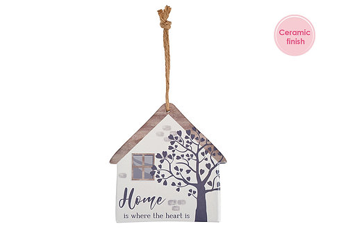Ceramic house wall hanging