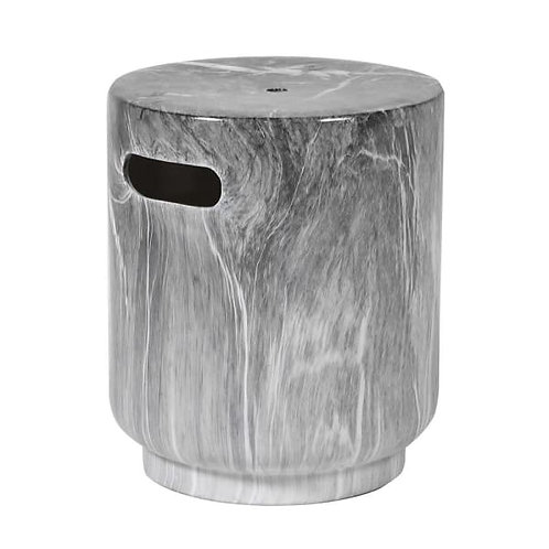 Taupe marble effect stool