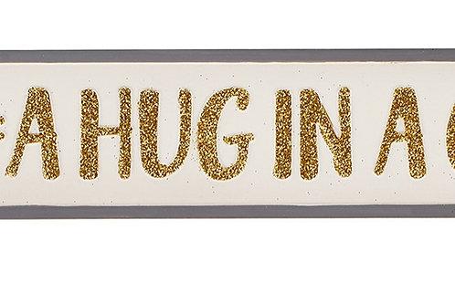 Hug in a cup plaque