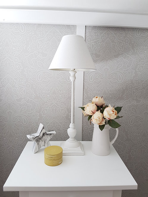 White Slim Table Lamp