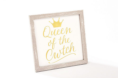 Queen of the cwtch plaque