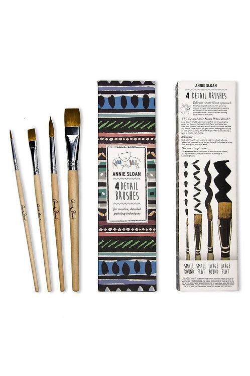 Detail fine paint brushes