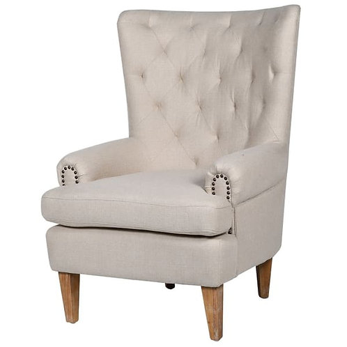 Natural linen armchair