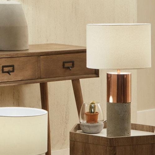 Eivissa copper metal & concrete table lamp by Pacific