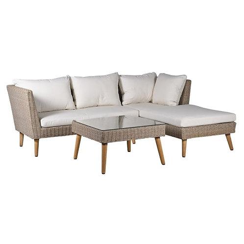 Corner sofa and coffee table set