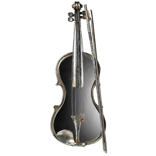 Mirrored Violin Wall Deco