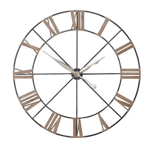 Large metal skeleton clock