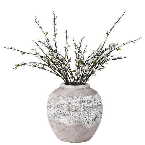 Large stone effect round vase