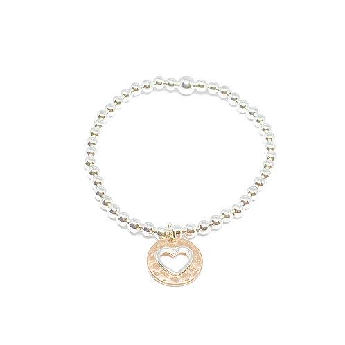 Lola Heart Bracelet - Rose Gold