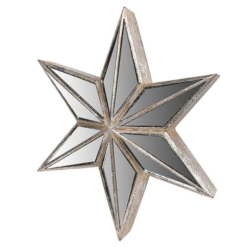 Large Mirrored Star Wall Decoration