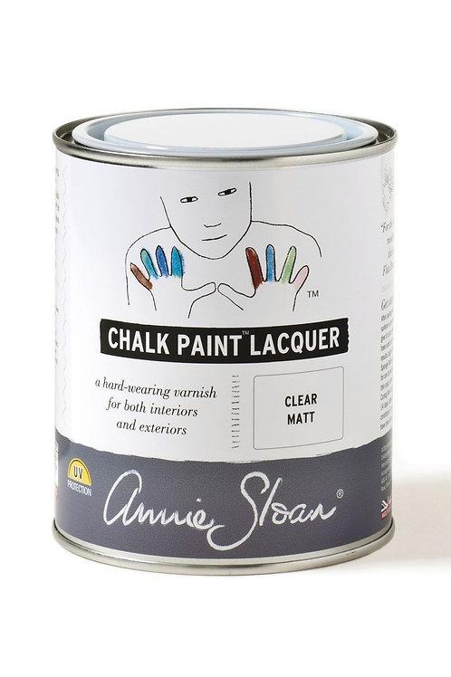 Clear matt lacquer