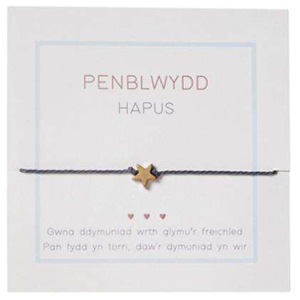 Penblwydd hapus bracelet