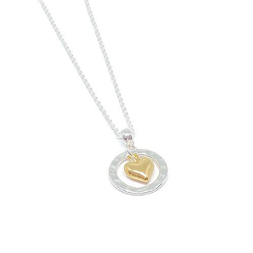 Catrina gold heart necklace