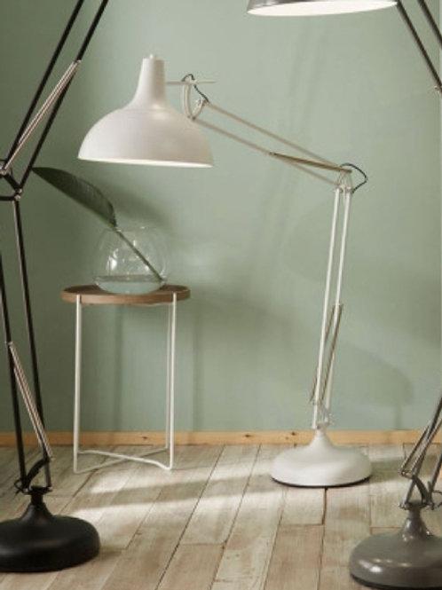 Alonzo matt white task floor lamp by Pacific