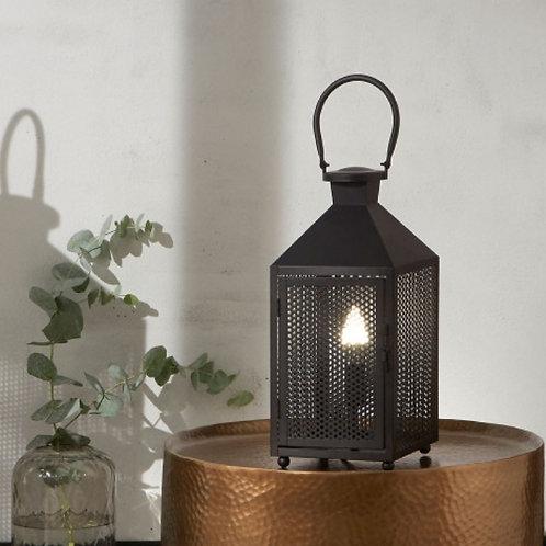 Pacific matte black punched lantern desk lamp