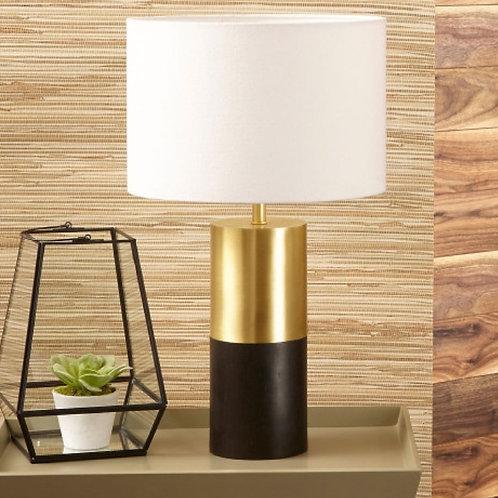 Etosha wood & gold metal table lamp