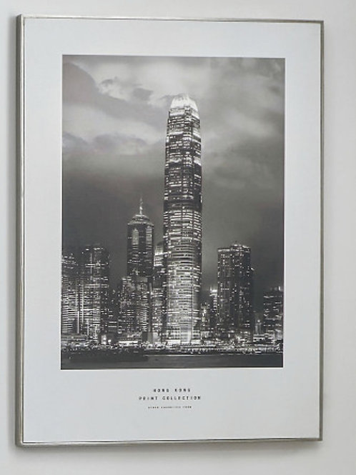 Pacific mono hong kong print with silver frame