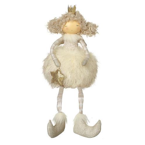 Fairy In Cream Dress Holding Gold Star