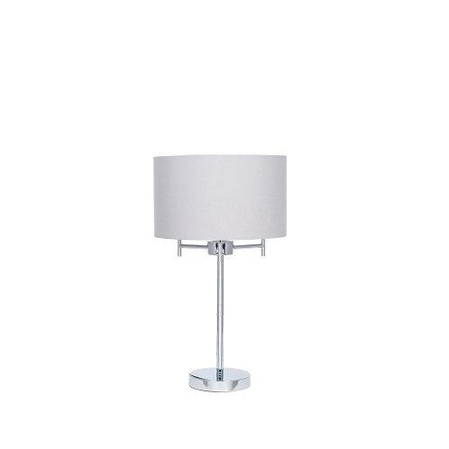 Silver 3 Light Metal Table Lamp