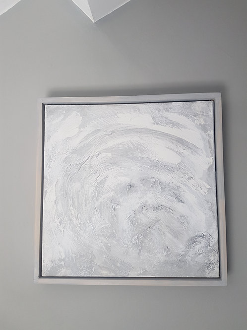 Original contemporary silver painting