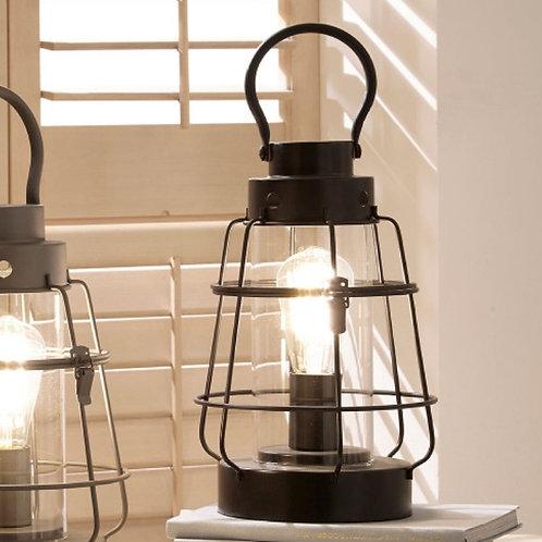 Pacific black lantern table lamp