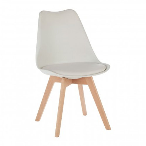 Nordic white chair with cushion