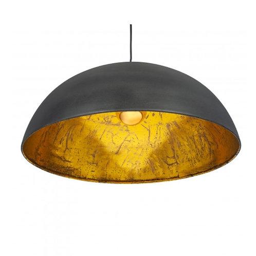 Pacific matte black & gold leaf Dome ceiling light