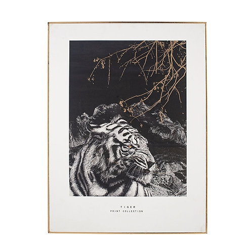 Pacific mono tiger print with black frame