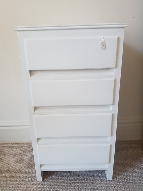 Re painted bedside with 3 drawers
