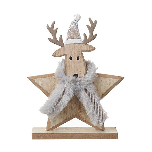 Star Shaped Deer With Scarf