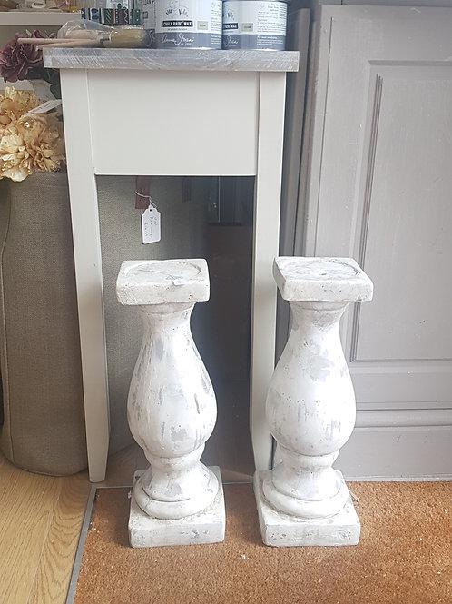 Large Stone Effect Candleholder