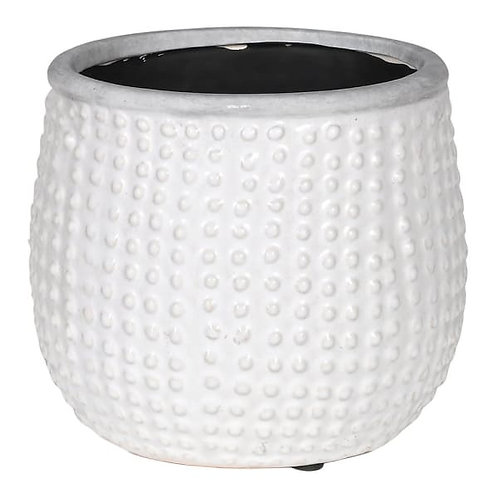 White bobble planter