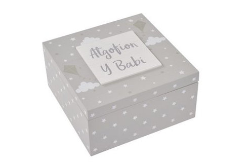 Welsh baby keepsake box