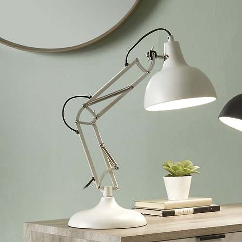 Pacific white task table lamp