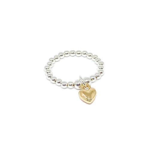 Rachel Heart Ring - Gold